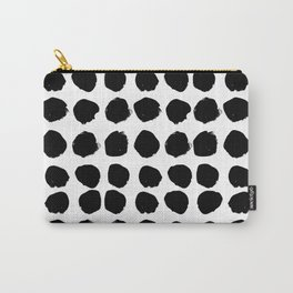 Florence - black and white minimal modern abstract home decor art india ink brushstroke boho trendy Carry-All Pouch