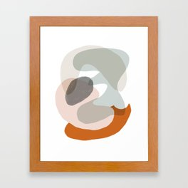 Shapes and Layers no.15 - soft neutral colors Framed Art Print