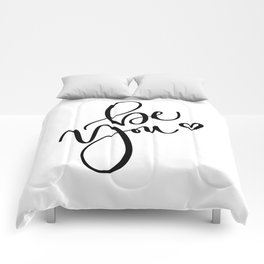 """""""Be You"""" Hand Lettering Art (Black) Comforters"""