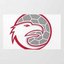 European Handball Eagle Mascot Rug
