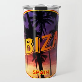 Ibiza, summer sunset, circle Travel Mug