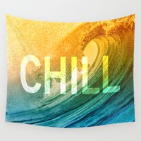 chill Wall Tapestries featuring Chill by SURFskate