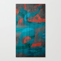 calligraphy Canvas Prints featuring Calligraphy by Imad Hasan