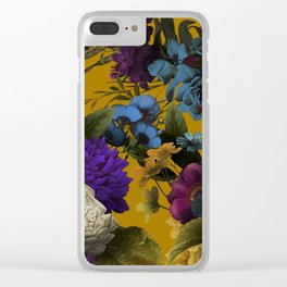 Wildflowers Melancholy ochre Clear iPhone Case