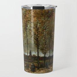 Vincent Van Gogh Poplars Near Nuenen Travel Mug