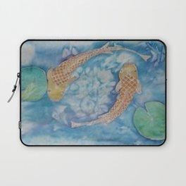 Koi Pond Batik Laptop Sleeve