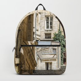 Narrow street in Bordeaux Backpack