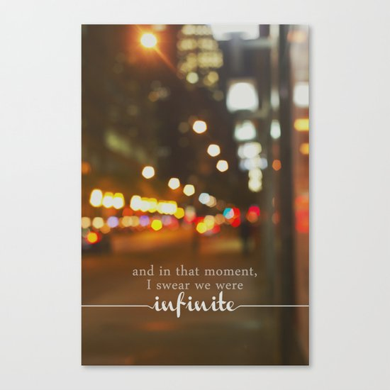 perks of being a wallflower - we were infinite Canvas Print