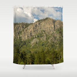 Rocks and Shrubs Shower Curtain
