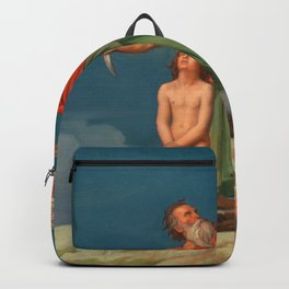 The Sacrifice of Isaac, France, 1860 by Jean-Hippolyte Flandrin Backpack