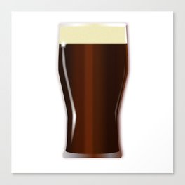 Pint Beer Glass Canvas Print