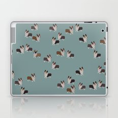 teal corgis Laptop & iPad Skin