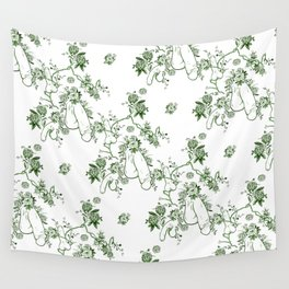 Penis Pattern GREEN Wall Tapestry