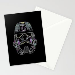 Day of the dead Storm Trooper head Stationery Cards
