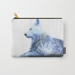 Wintry Wolf Carry-All Pouch
