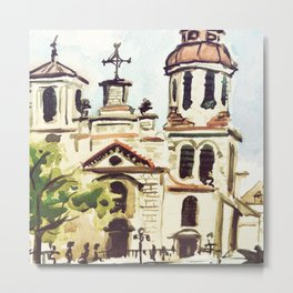 Church in Quebec City Canada Metal Print
