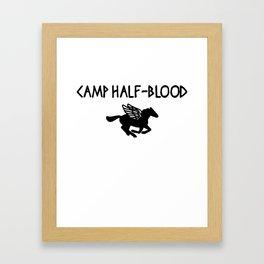 Camp Half Blood Percy Jackson Demigods Olympian Halloween Costume Camp Framed Art Print