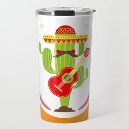 Cactus Cinco De Mayo Funny Travel Mug