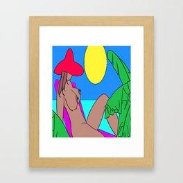 TOPLESS Framed Art Print