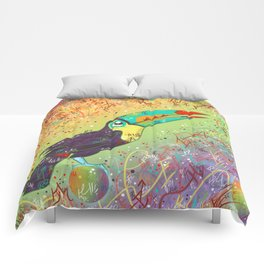 Toucan Can Do It! Comforters