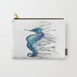 watercolor seahorse Carry-All Pouch