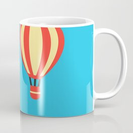 Classic Red and Yellow Hot Air Balloon Coffee Mug