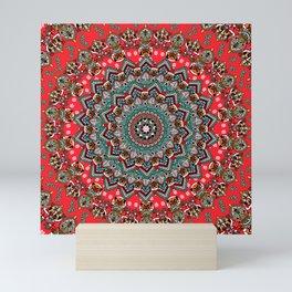 Mandala Christmas Pug Mini Art Print