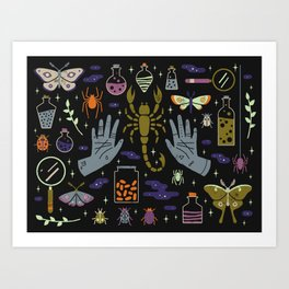 Spooky Horoscopes: Scorpio Art Print