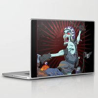 pirate ship Laptop & iPad Skins featuring The Same Pirate, Different Ship by MenoTonik