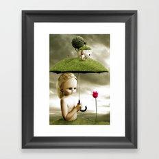 Eve's Umbrella Framed Art Print
