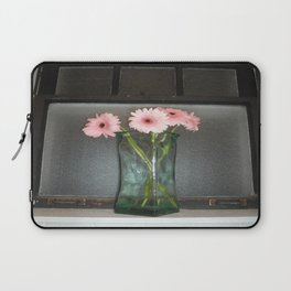 pink daisies ~ flowers on vintage sill Laptop Sleeve