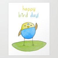 Happy Bird Day Art Print