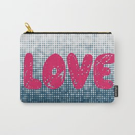 Love (Navy Blue) Carry-All Pouch