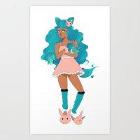 Ghost Wolf Debbie Art Print