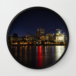 Portland Skyline Wall Clock
