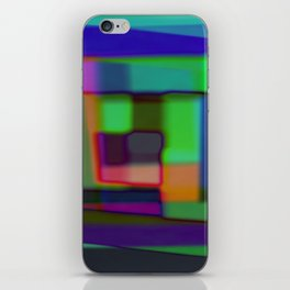 Colored blured background iPhone Skin