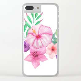 Tropical bouquet i Clear iPhone Case