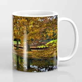 Autumn landscape with a windmill and pond in the Netherlands  Coffee Mug