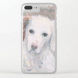 White Dog #2 Clear iPhone Case