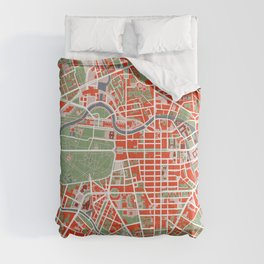 Berlin city map classic Comforters