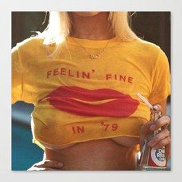 Feelin' Fine In '79 Canvas Print