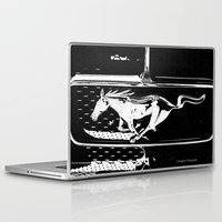 mustang Laptop & iPad Skins featuring Mustang  by Heidi Maly