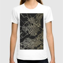 Wilkes-Barre Gold and Black Map T-shirt