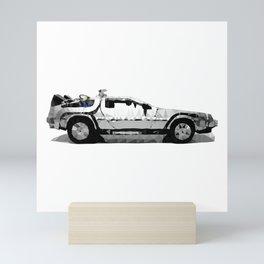 Delorean Low poly Mini Art Print