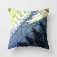 chess Throw Pillows featuring Chess by Beatrice