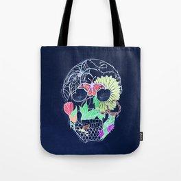 Chalk Art Skull Tote Bag