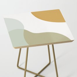 Abstract Shapes Illustration - Green Side Table