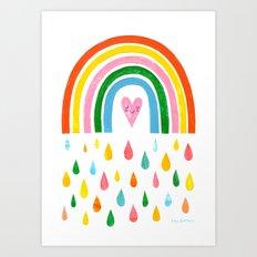 The Rain Gives You The Rainbow Art Print
