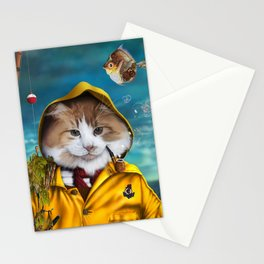Le pêcheur/The fisherman Stationery Cards