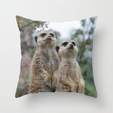 Meerkat 013 Throw Pillow